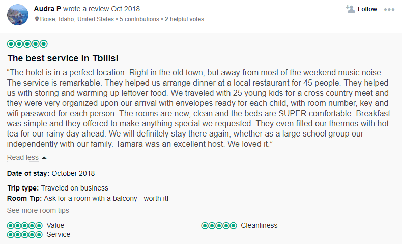 tripadviser review hotels in tbilisi georgia